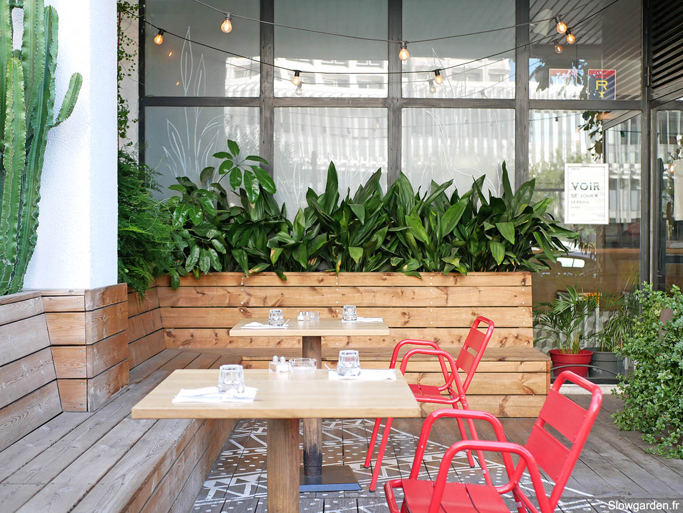 Amenagement de terrasse Slowgarden pour Urban kitchen